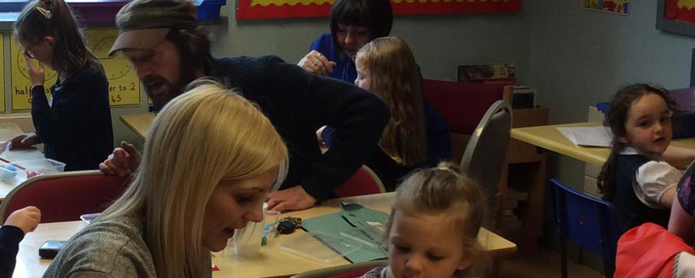 Families Connect making Maths fun at St.Patrick's Primary school .