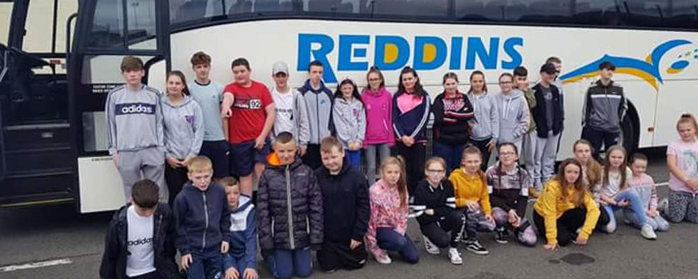 Outer North Youth setting off yesterday on their Residential