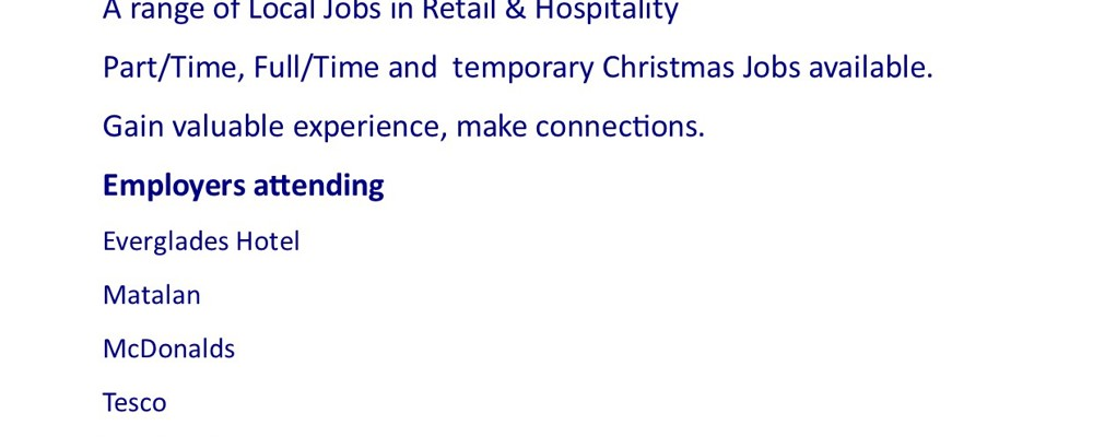 Retail & Hospitality Job Fair 9th October 2019