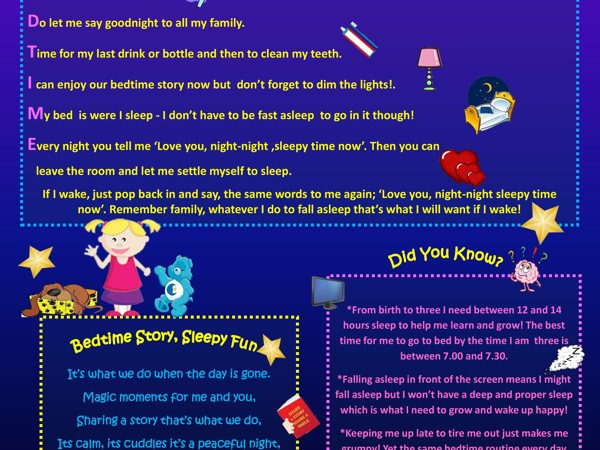 Talking To Our Babies; 'Bedtime Sleepy Time' Parent Poster