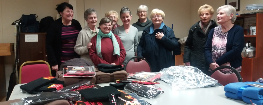 St Brigid's Women's Group getting geared up for the cold