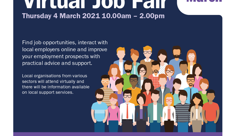 Virtual Job Fair 4th March not to be missed