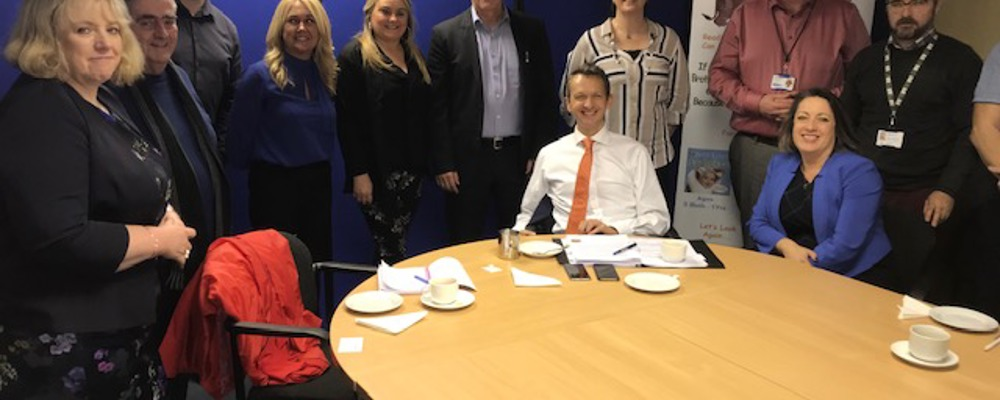Influential Andy Haldane, Chief Economist with the Bank of England visits Shantallow