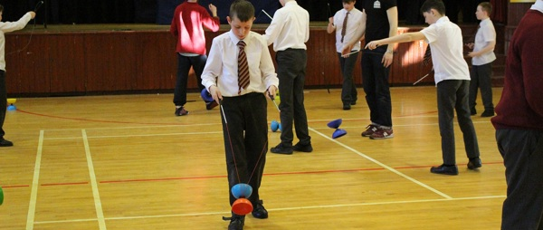 Circus Skills Come to GSAP Aspire Students .
